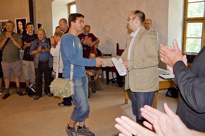 Michal Černý zastupoval fotoklub JAF, gratulace za 7. místo