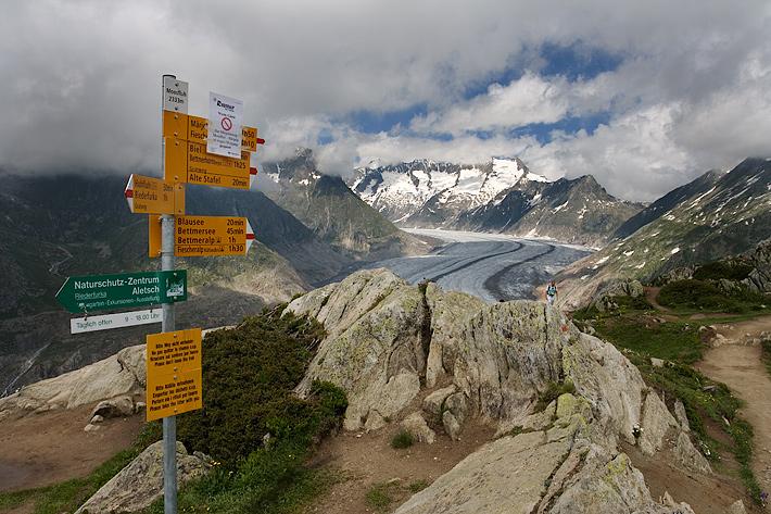 nad Aletschým ledovcem