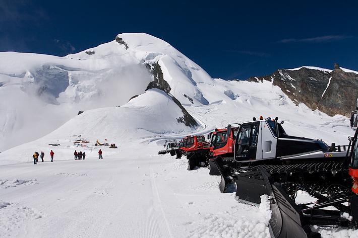 vrchol Allalinu Allalinhorn 4027m.n.m.